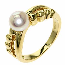 MIKIMOTO 18K Yellow Gold Pearl Pearl Ring