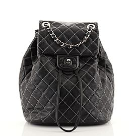 Chanel Covered CC Chain Backpack Stitched Lambskin Small