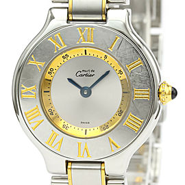 CARTIER Must 21 Gold plated, Stainless steel Quartz Watch