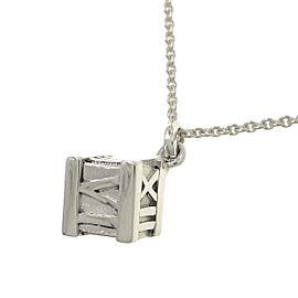 TIFFANY & CO 925 silver Atlas Cube Necklace