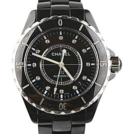 Chanel J12 H0685 Stainless Steel / Black Ceramic with Diamond Dial Automatic 38mm Mens Watch