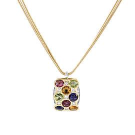 Bibigi 18K White and Yellow Gold Gemstone Pendant Necklace