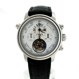 Blancpain Leman 2189F-3427-63B Platinum & Leather 38mm Watch