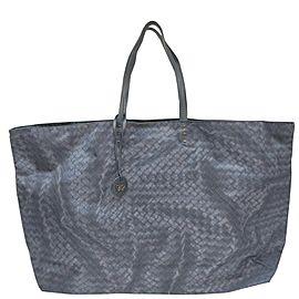 Bottega Veneta Blue Nylon Intrecciolusion Tote Bag 862976