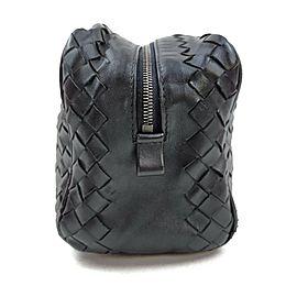 Bottega Veneta Black Intrecciato Toiletry Bag Cosmetic Pouch 863253