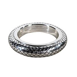 Bottega Veneta Sterling Silver Woven Pattern Bracelet