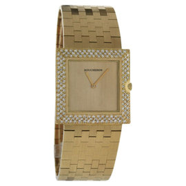 Boucheron 18K Yellow Gold with Diamond Quartz 25mm Womens Watch