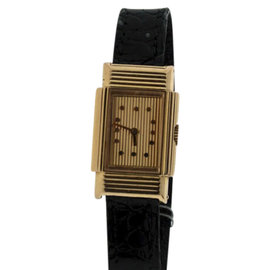 Boucheron 18K Yellow Gold & Leather Manual 20mm Womens Watch