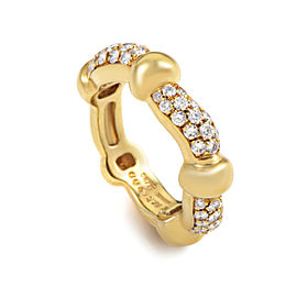 Boucheron 18K Yellow Gold Diamond Band Ring