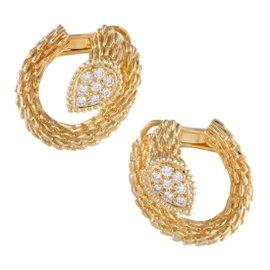 Boucheron Toi et Moi Serpent Bohème 18K Yellow Gold & Diamond Earrings