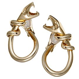 Boucheron 18K Yellow Gold Snake Clip-On Earrings