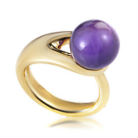 Boucheron 18K Yellow Gold Iolite Sphere Ring