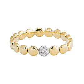 Rina Limor Gold Circle & Diamond Stretch Bracelet