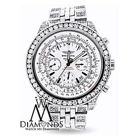 Breitling Bentley A4436412 Genuine Stainless Steel Custom Diamond Watch
