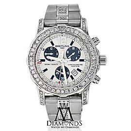 Breitling Colt 44 A73387 Stainless Steel Watch Customized with Diamonds