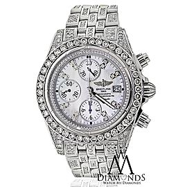 Breitling Evolution A13356 Stainless Steel Custom Diamond Watch