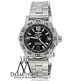 Breitling Colt 33mm Stainless Steel Watch with Custom Diamond Bezel A7738711