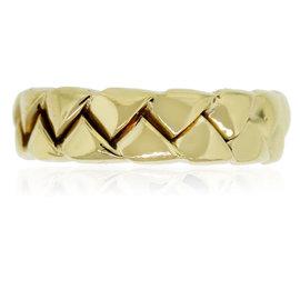 Scott Kay 18K Yellow Gold Braided Wedding Band Ring Size 12.75