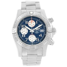 Breitling Aeromarine Super Avenger Chronograph A13381 Stainless Steel 43mm Automatic Mens Watch