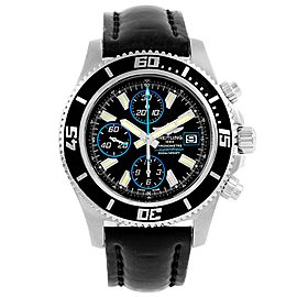 Breitling Aeromarine A13341 Stainless Steel & Rubber Automatic 44mm Mens Watch
