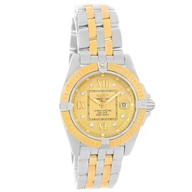 Breitling Cockpit D71356 Stainless Steel/Yellow Gold Diamond 32mm Womens Watch