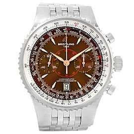 Breitling Montbrillant Legende A23340 Stainless Steel Bronze Dial 47mm Mens Watch