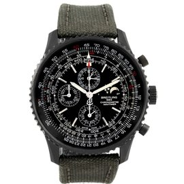 Breitling Navitimer M19380 Stainless Steel & Fabric Automatic 48mm Mens Watch