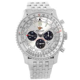 Breitling Navitimer A41322 Stainless Steel Silver Dial 43mm Mens Watch