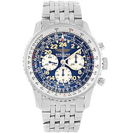 Breitling Navitimer Cosmonaute A12022 Stainless Steel Blue Dial Automatic 41.5mm Mens Watch