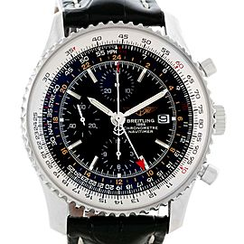 Breitling Navitimer A24322 Stainless Steel & Leather Automatic Mens 46mm Watch
