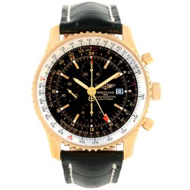 Breitling Navitimer World K24322 Limited Edition 18K Yellow Gold 46mm Automatic Mens Watch