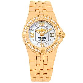 Breitling Starliner H71340 18K Rose Gold Mother of Pearl Diamond 30mm Womens Watch
