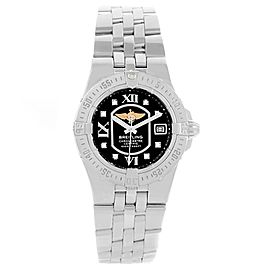 Breitling Starliner A71340 Black Diamond Dial Stainless Steel 30mm Womens Watch