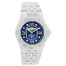 Breitling Starliner A71340 Stainless Steel Diamond Quartz 30mm Womens Watch