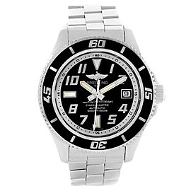 Breitling Superocean A17364 Black Dial Stainless Steel 42mm Mens Watch