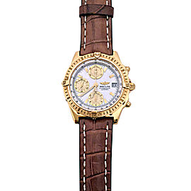 Breitling Chronomat K13352 18K Yellow Gold 40.5mm Mens Watch
