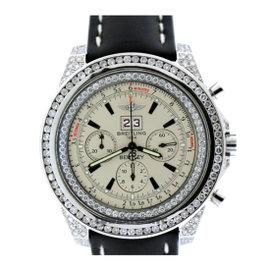 Breitling Bentley Stainless Steel & Diamond Mens Watch