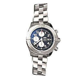 Breitling Super Avenger Stainless Steel & Blue Dial 48mm Mens Watch
