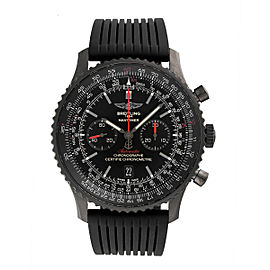Breitling Navitimer MB012822-BE51BKRD Stainless Steel / Rubber Black Dial Chronograph 46mm Mens Watch