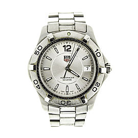 Tag Heuer Silver Aquaracer Mens WAF1112.BA0801 Watch
