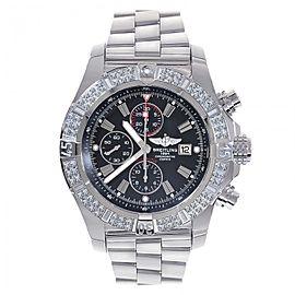 Breitling Super Avenger A13370 Stainless Steel & Diamond 48mm Watch