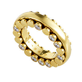 Bucherer 18K Yellow Gold Dizzler Diamond Band Ring