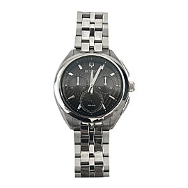 Bulova Curv 96A186 Stainless Steel 45mm Mens Watch