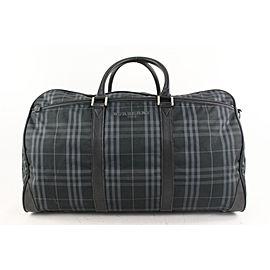 Burberry Black Nova Check Boston Duffle Bag with Strap 629bur616