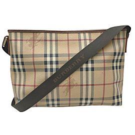 Burberry London Beige Nova Check Messenger Crossbod Bag 863043
