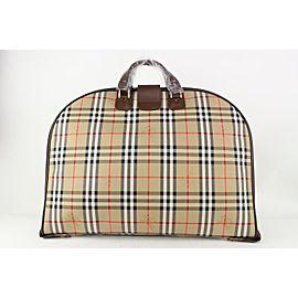 Burberrys Beige x Brown Nova Check Garment Bag 826bur74