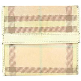 Burberry Pink Nova Check Compact Wallet 181bur712