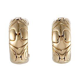 Bulgari Alveare 18K Yellow Gold Huggie Clip-on Earrings
