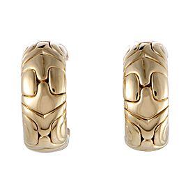 Bulgari Alveare 18K Yellow Gold Huggie Clip-on Earrings