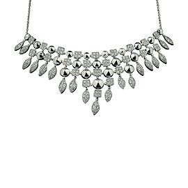 Bulgari 18K White Gold and Pave Diamond Necklace